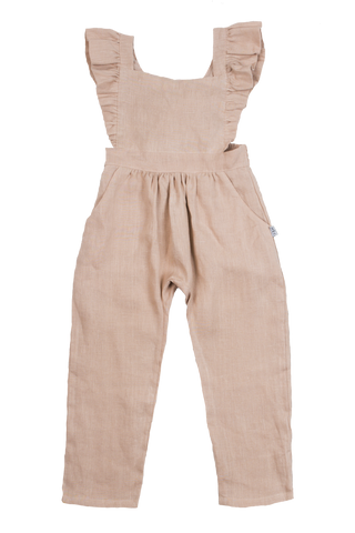 (SOLD OUT SIGN UP FOR RESTOCK NOTICE) Fox & Horn Little Adventurer Overalls - Blush