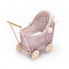 LiLu Low Dolls Pram - Pink