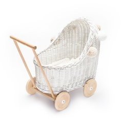 LiLu Low Dolls Pram - White