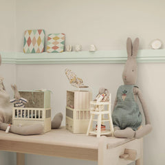 Maileg Musical Baby Room With Micro Bunny - Pink