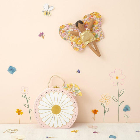 Meri Meri Doll In Suitcase Butterfly Daisy