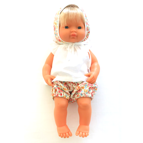 Mini Fashion Floral Bloomer & Bonnet Set