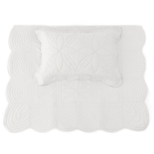 Bonne Mère (King Single) Bedspread Quilt & Pillow Set - Mist