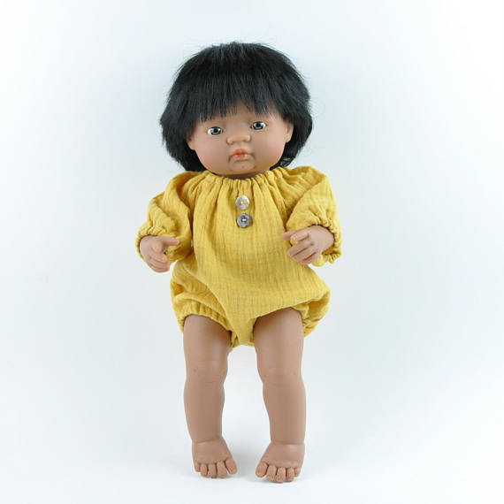 Miniland Accessories - Mustard Romper for 38cm