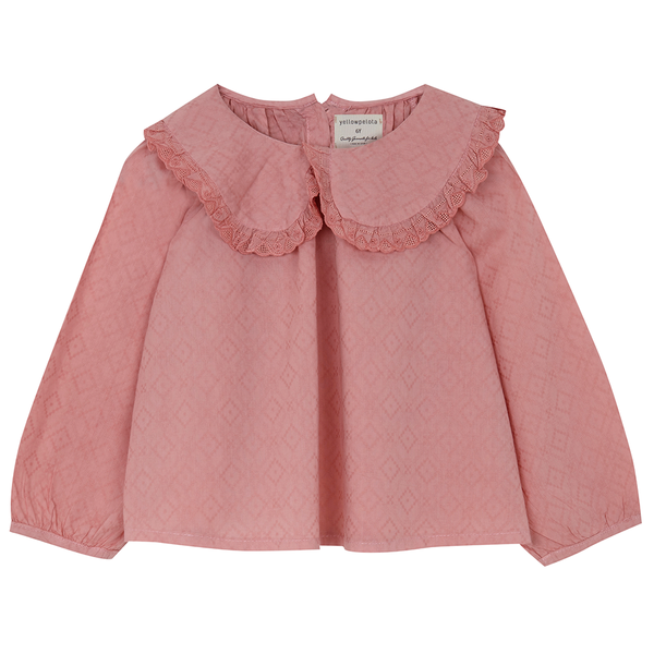 Yellow Pelota Native Blouse - Pink Antique