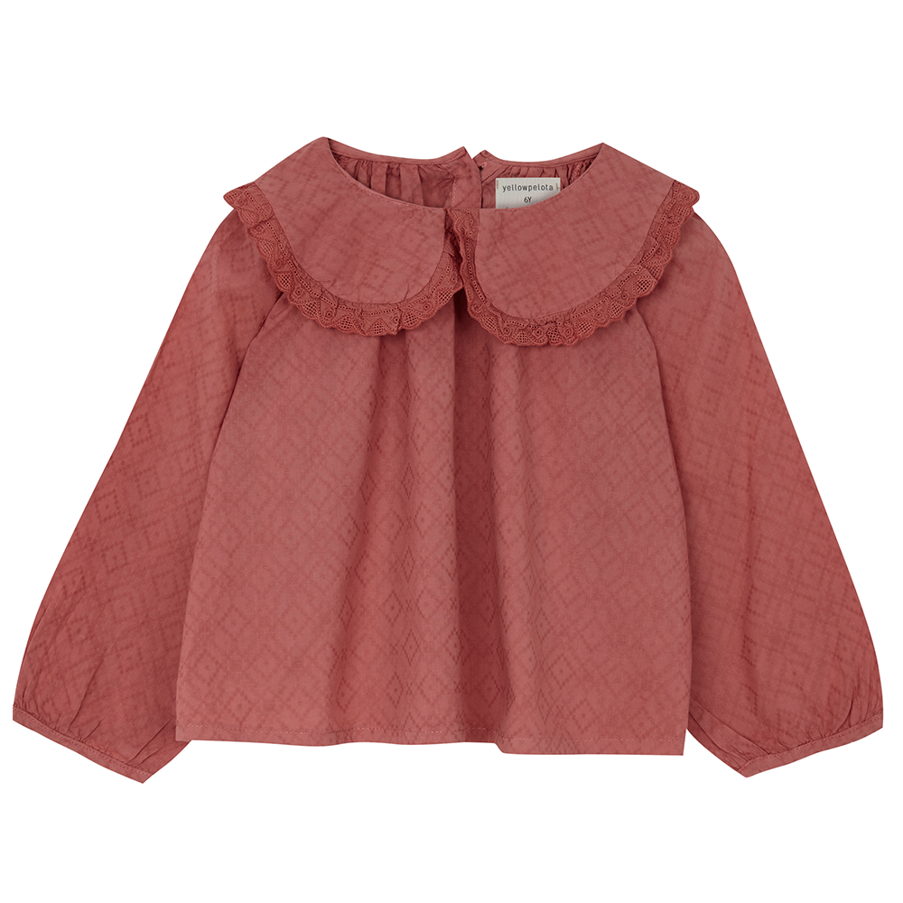 Yellow Pelota Native Blouse - Terracotta