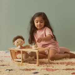 Olli Ella Dinkum Doll Rattan High Chair & Play Table