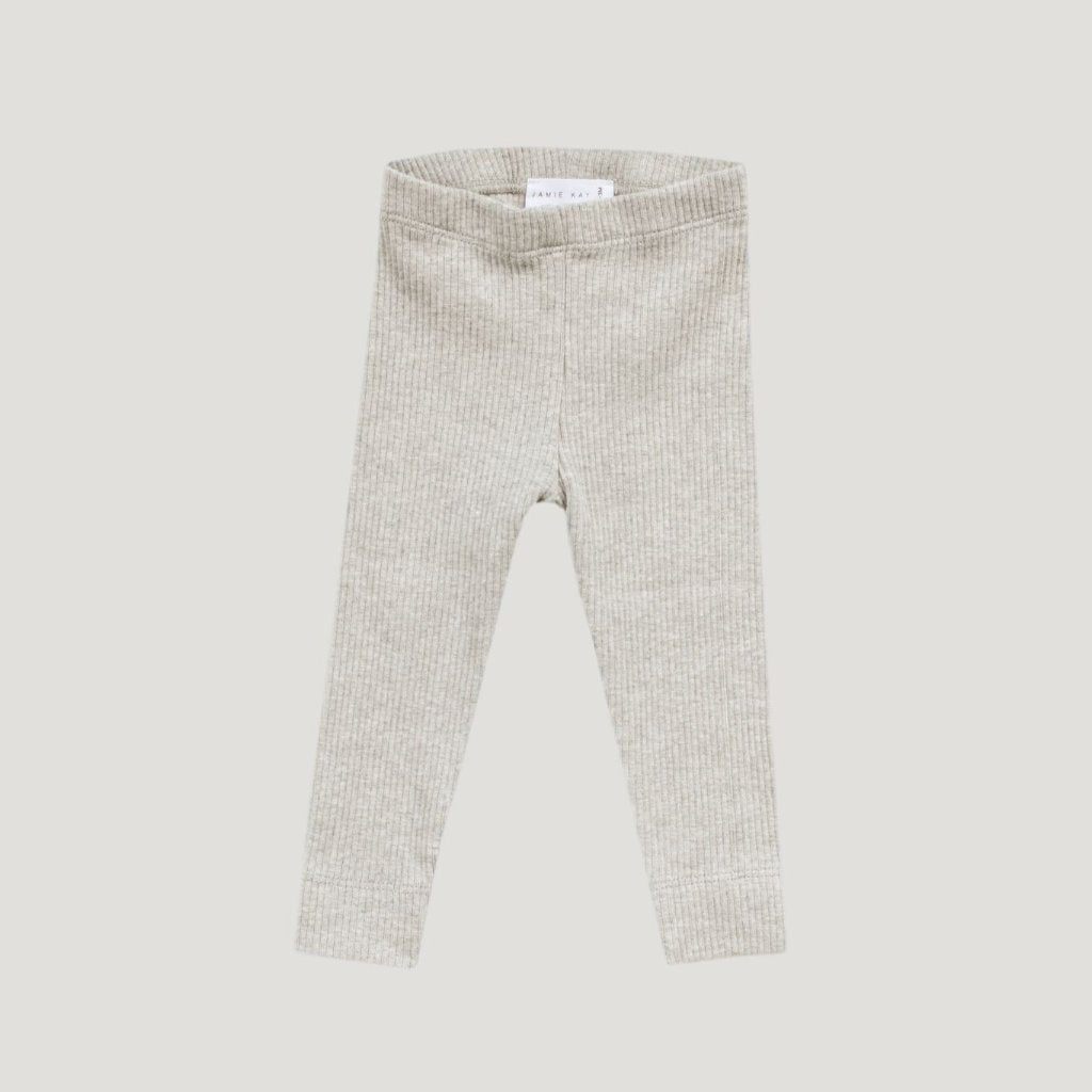 Jamie Kay Cotton Modal Leggings - Oatmeal Marle