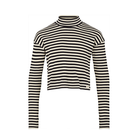 Mar Mar Pop Tee LS - Black & White Stripe