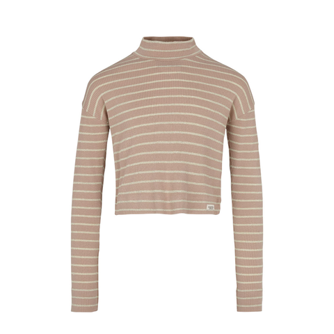 Mar Mar Pop Tee LS - Burnt Rose & Gold Stripe
