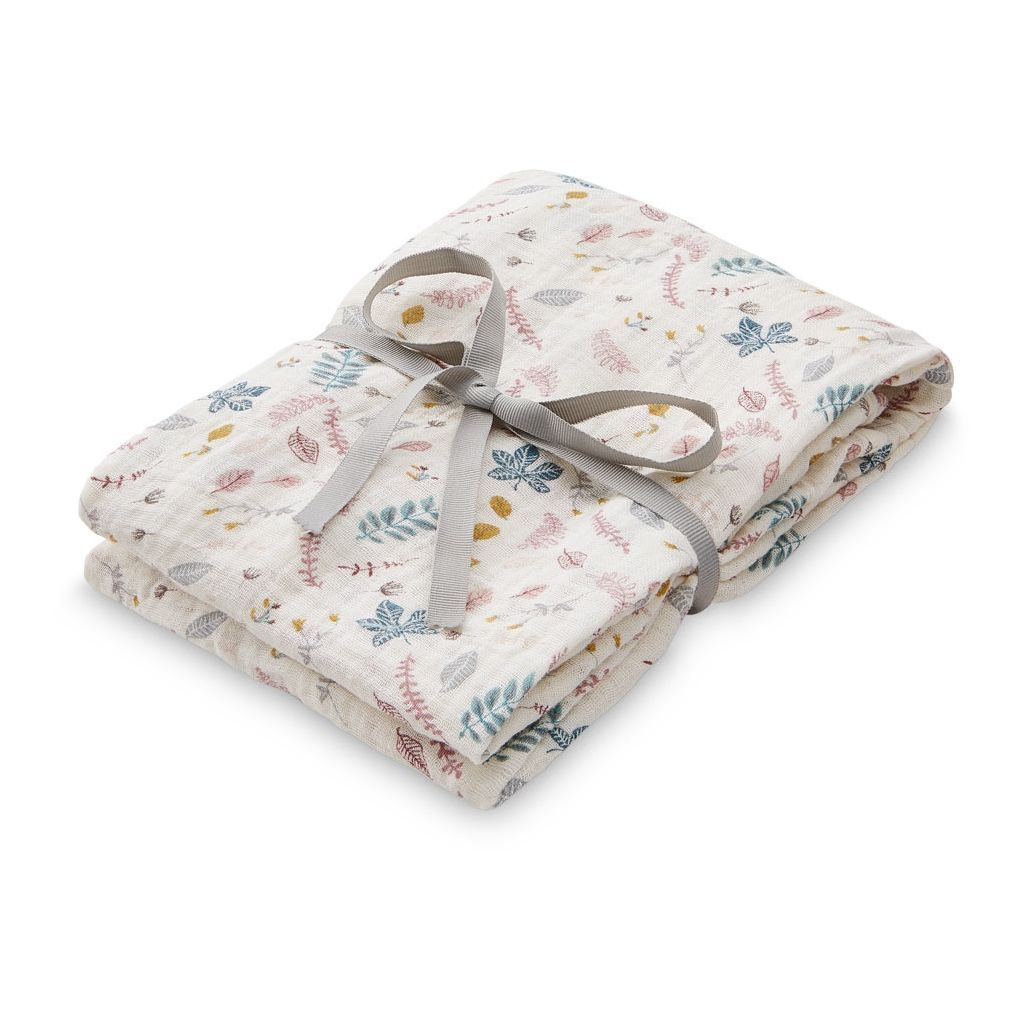 Cam Cam Copenhagen Organic Light Swaddle - Pressed Leaves Rose