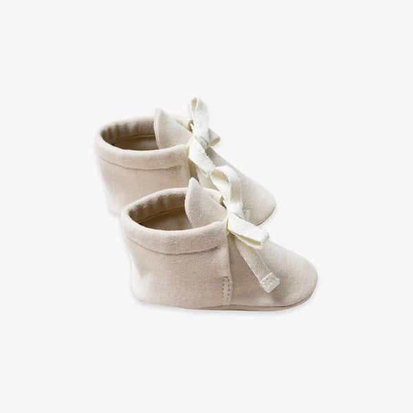 Quincy Mae Baby Booties - Bone