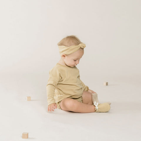 Quincy Mae Baby Booties - Honey