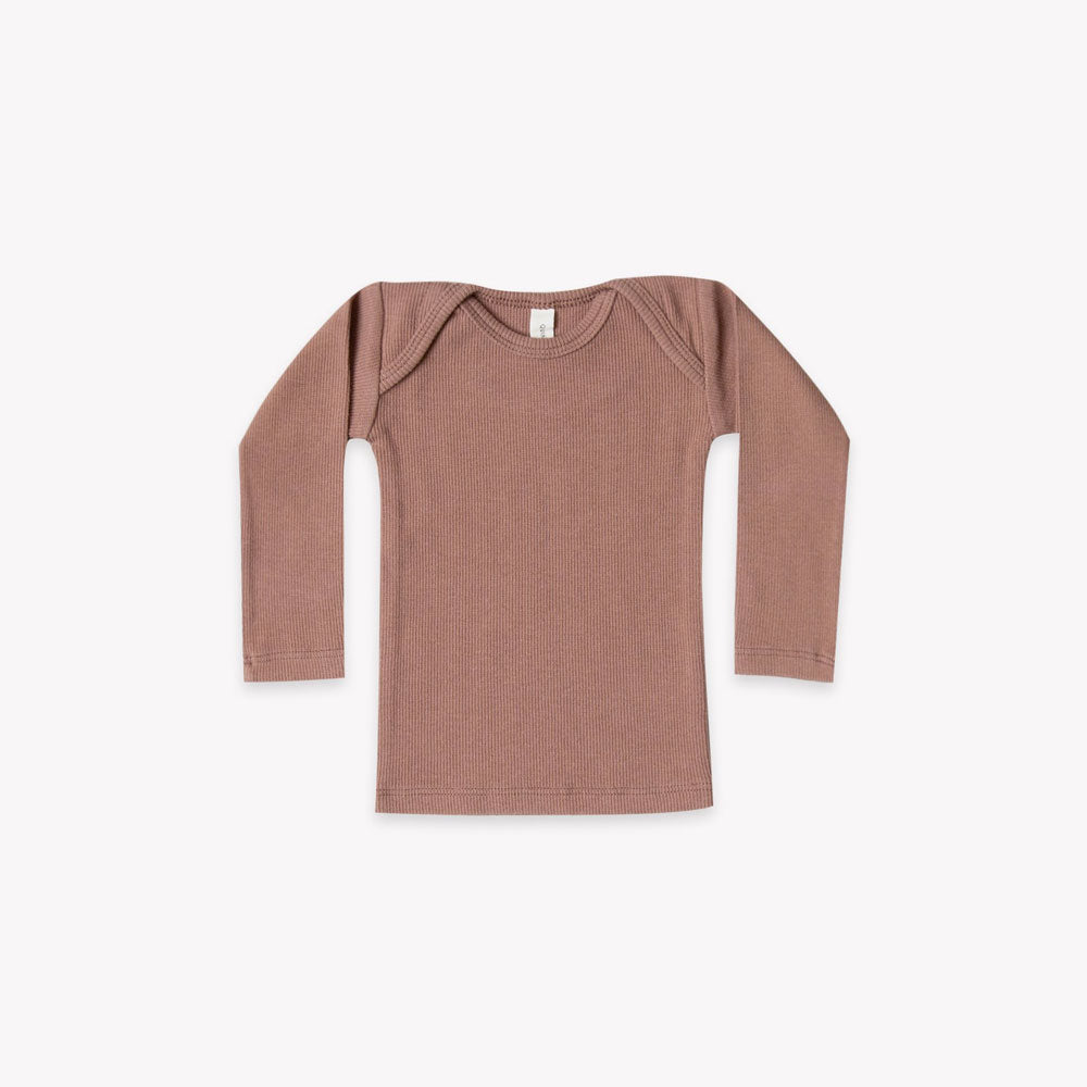 PRE ORDER | Quincy Mae Ribbed Lap Tee - Clay