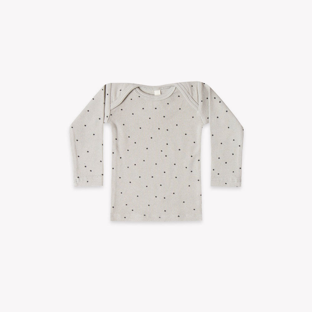 Quincy Mae Ribbed Lap Tee - Dove