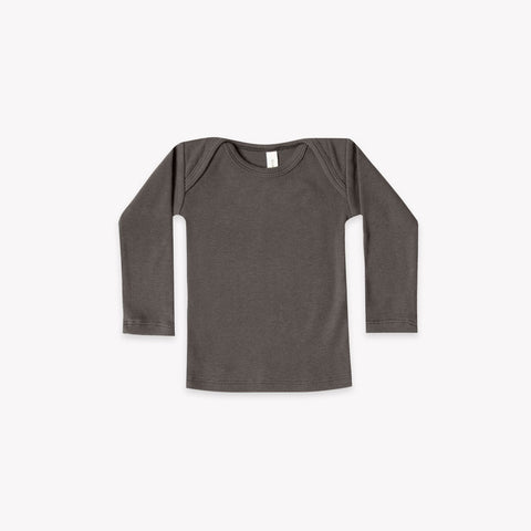 Quincy Mae Ribbed Lap Tee - Coal