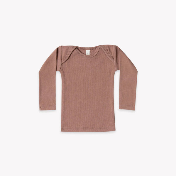 Quincy Mae Ribbed Lap Tee - Clay
