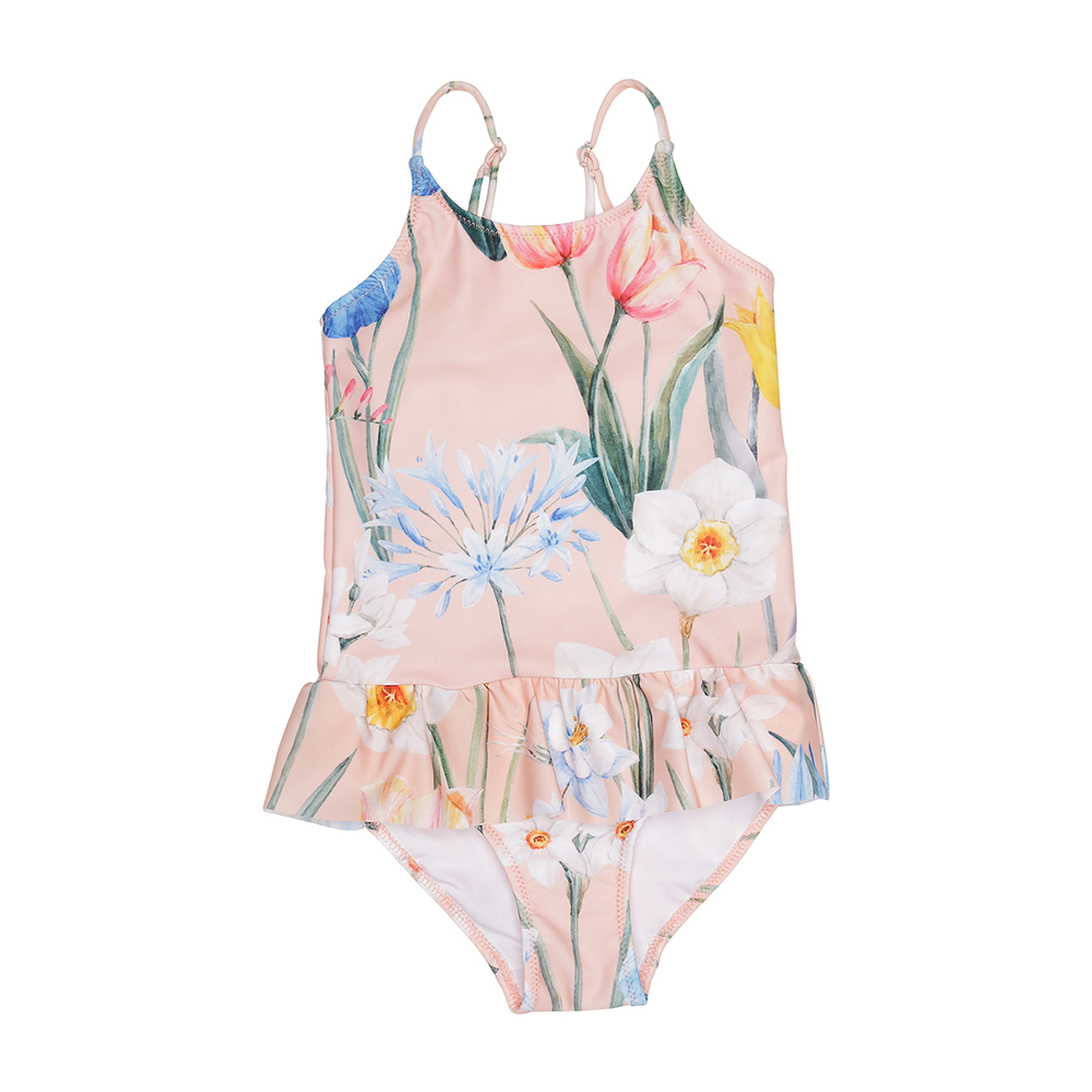 Popupshop Ruffles Swimsuit - Flower