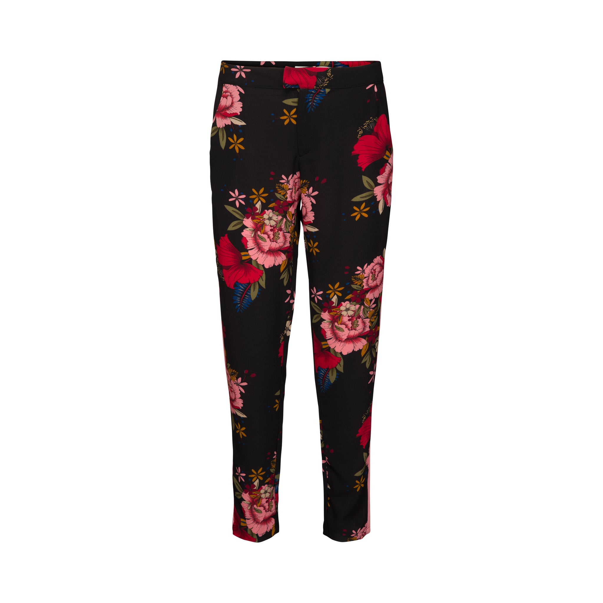 Womens Sofie Schnoor Trousers - Black Flower