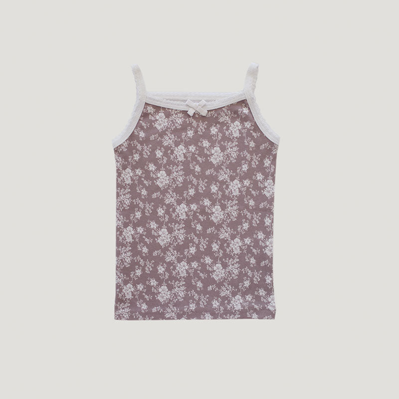 Jamie Kay Organic Cotton Singlet - Fawn Floral