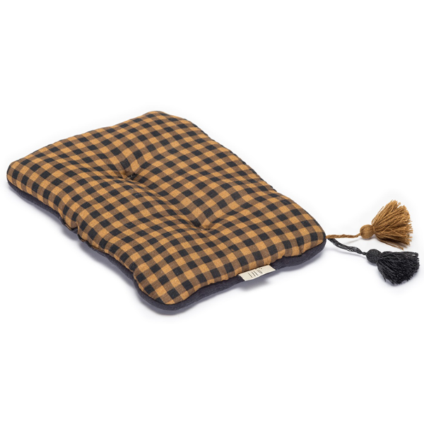LiLu Small Pillow - Mustard Check