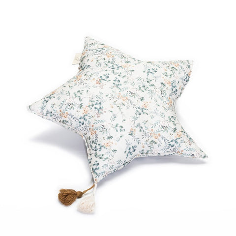 LiLu Large Star Pillow - Grey Branches