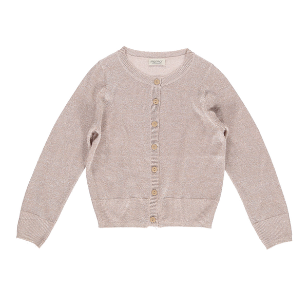 Mar Mar Tilda Lurex Knit Cardigan - Burnt Rose