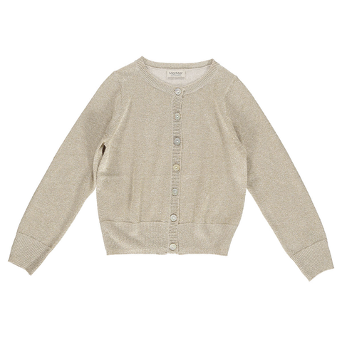 Mar Mar Tilda Lurex Knit Cardigan - Gold