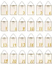 Numero 74 Advent Calendar Gift Bags - Natural