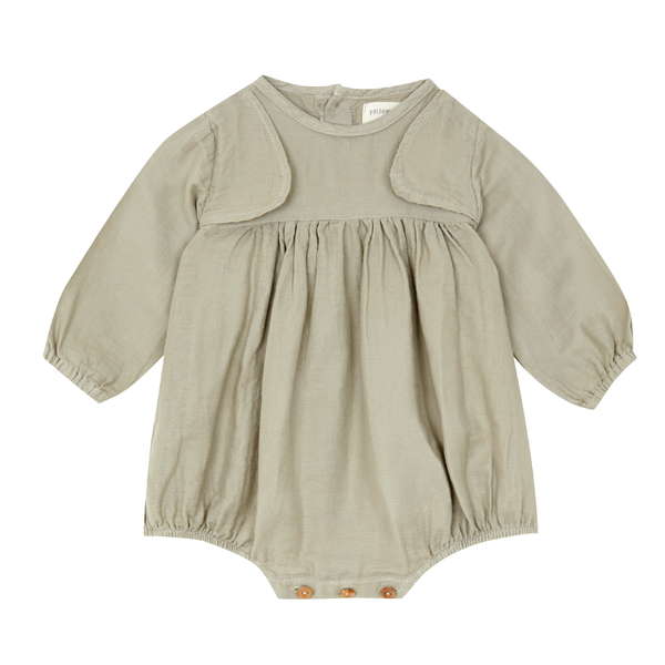 Yellowpelota Vest Romper - Green Grey