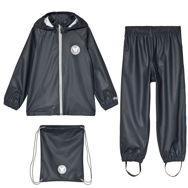 PRE-ORDER | Wheat Rainwear Set Charlie (Size 4 Yr) - Dark Blue