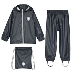 Wheat Rainwear Set Charlie (Size 4 Yr) - Dark Blue