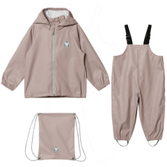 Wheat Rainwear Set Charlie (Size 4 Yr) - Dark Powder