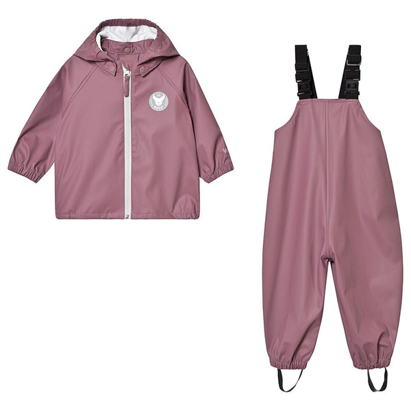 Wheat Rainwear Set Charlie (Size 4 Yr) - Plum Rose