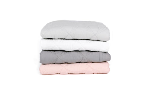 Bonne Mère (Single) Bedspread Quilt & Pillow Set - Powder