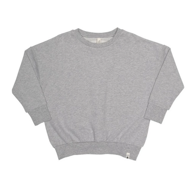 Popupshop Loose Sweat Grey Melange