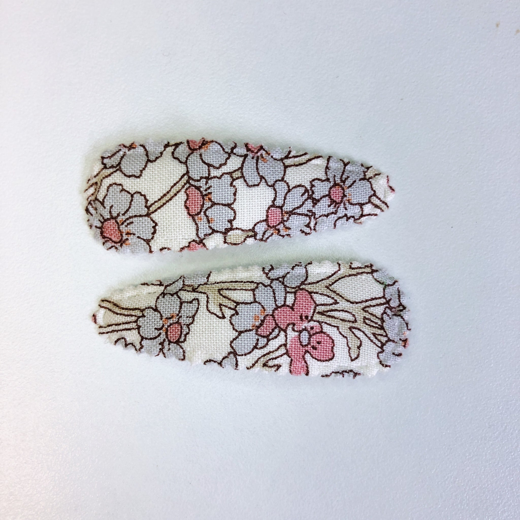 Funny Bunny Kids Liberty Clips - Rose & Blue Floral