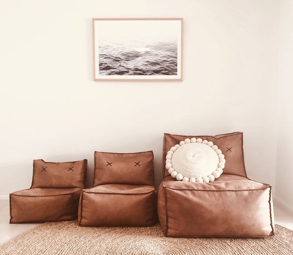 HomeDay Mod Sofa Deluxe Tan