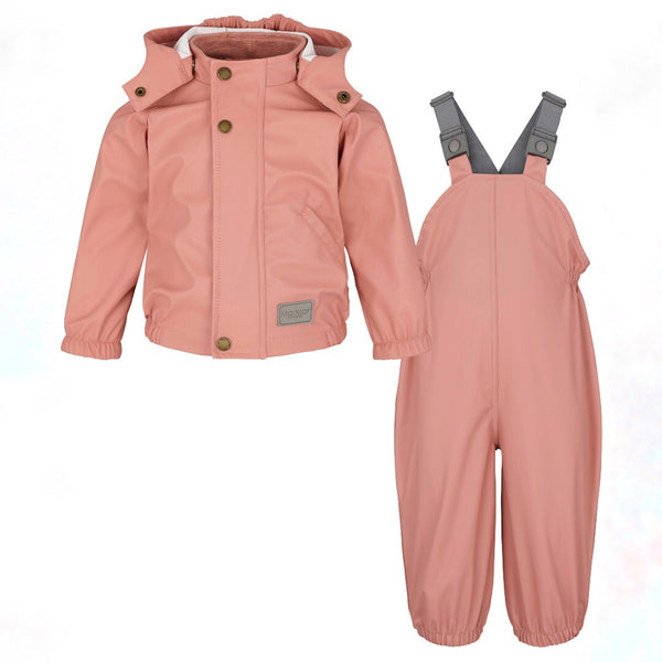 MarMar Copenhagen Rain Wear Set (Jacket + Overalls) - Morning Rose