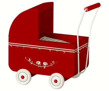Maileg Pram for My Baby - Red