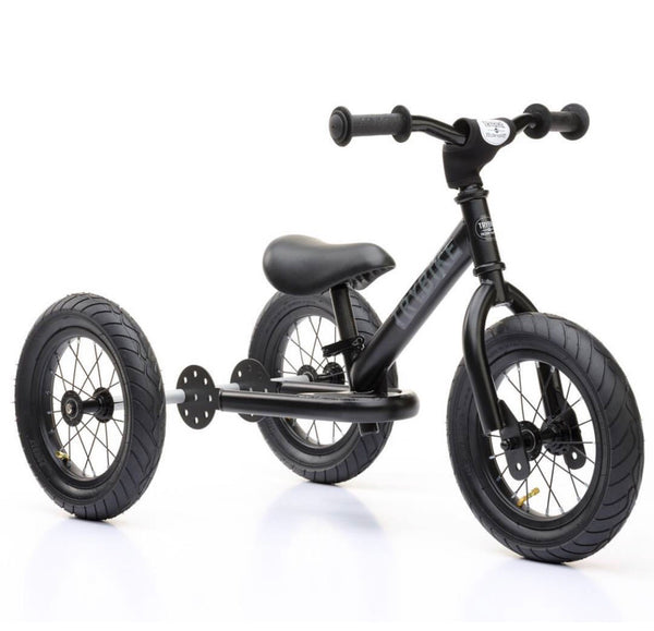 Trybike - Black Steel 2-In-1 Balance Bike & Trike