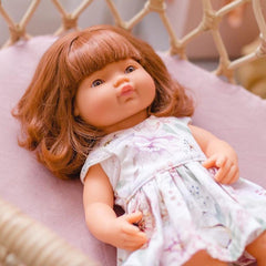 PRE-ORDER | Miniland Caucasian Baby Girl Red Head Doll 38cm