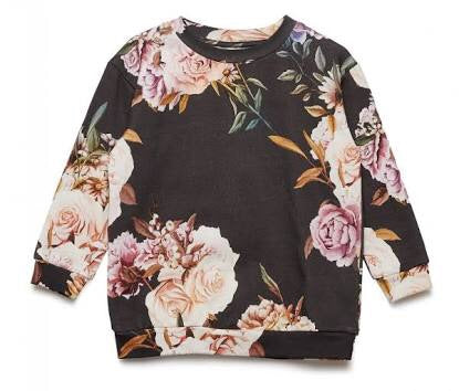 Popupshop Loose Sweat Rose Flower