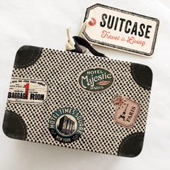 Maileg Metal Suitcase - Little Miss Mouse Travel Suitcase