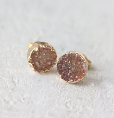 Cloud Nine Creative Raw Crystal Stud - Golden