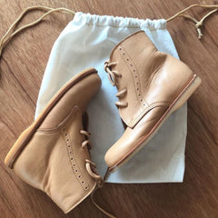 Boho Leather Co Leather Ari Boot - Creme Brulee