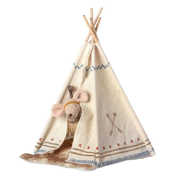 PRE-ORDER | Maileg Little Feather Mouse With Tent