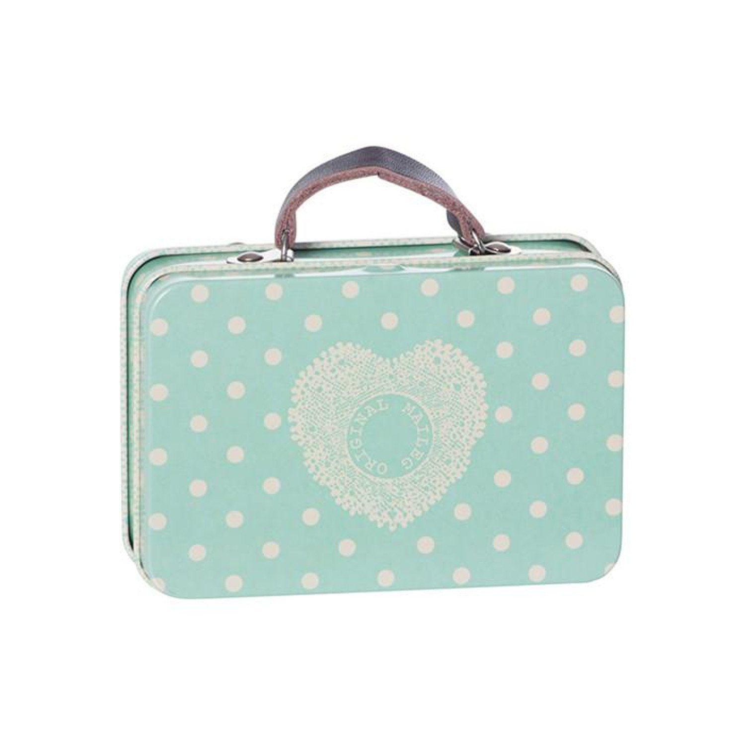 Maileg Metal Suitcase - Blue Big Dots