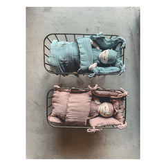 Numero 74 Doll Metal Cot & Bedding Set - Sweet Blue