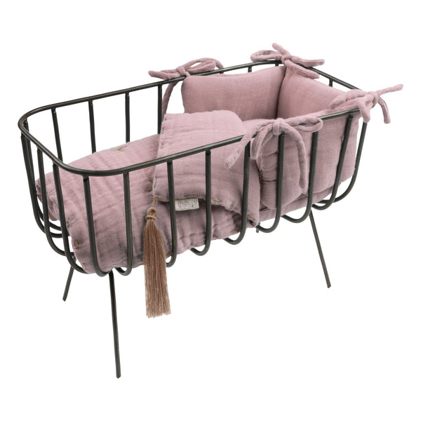 PRE-ORDER | Numero 74 Doll Metal Cot & Bedding Set - Dusty Pink